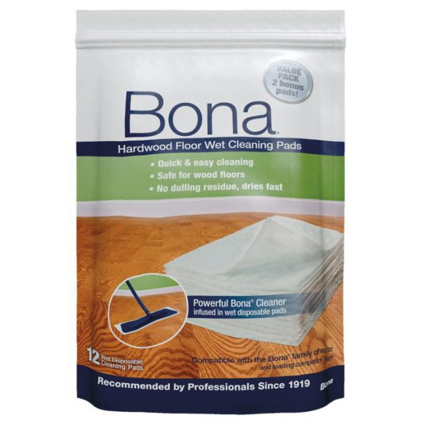 Bona Hardwood Floor Wet Cleaning Pads - 10 Pack