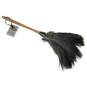 "Ostrich Duster 20"" with Black Feathers"